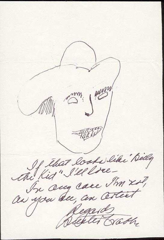 Image 1 for Buster Crabbe - Self-caricature Signed - HFSID 15743