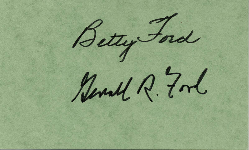 Image 1 for President Gerald R. Ford - Autograph co-signed by: First Lady Betty Ford - HFSID 157436
