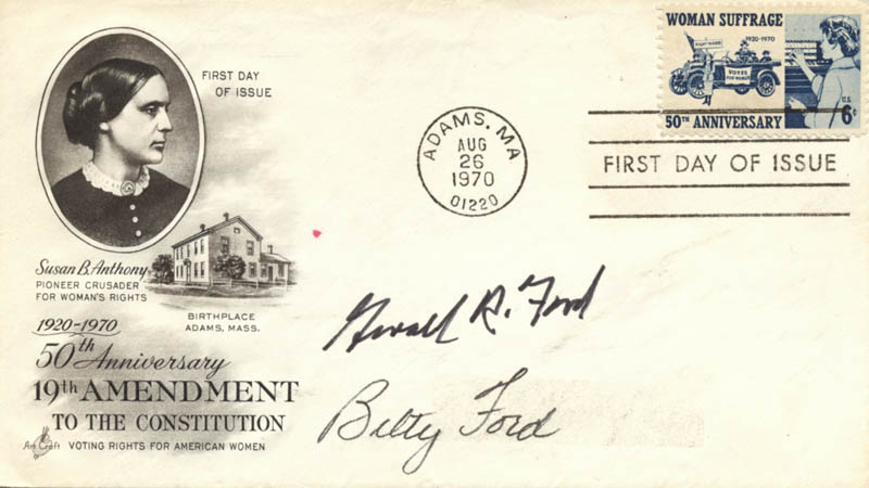 Image 1 for President Gerald R. Ford - First Day Cover Signed co-signed by: First Lady Betty Ford - HFSID 157441