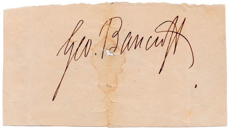 Image 1 for George Bancroft - Autograph - HFSID 157478