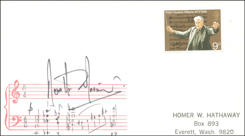 Image 1 for Sir Neville Marriner - Autograph Musical Quotation Signed - HFSID 157671