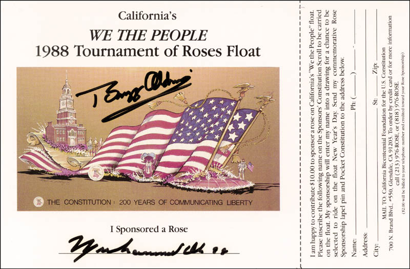 Image 1 for Colonel Buzz Aldrin - Application Signed Circa 1988 co-signed by: Muhammad 'The Greatest' Ali - HFSID 157758