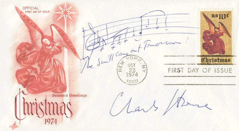 Image 1 for Charles Strouse - Autograph Musical Quotation Signed - HFSID 157983