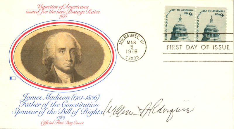 Image 1 for Chief Justice William H. Rehnquist - First Day Cover Signed - HFSID 158028