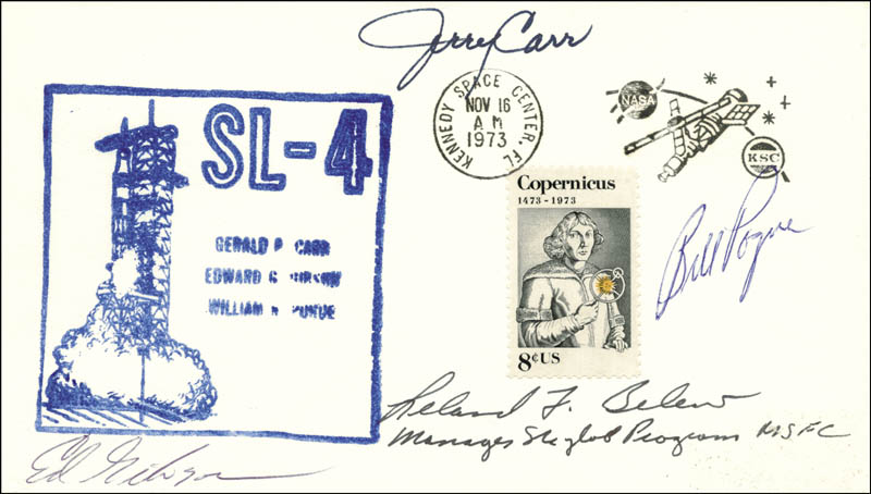 Image 1 for Colonel Gerald P. 'Jerry' Carr - Commemorative Envelope Signed with co-signers - HFSID 158130