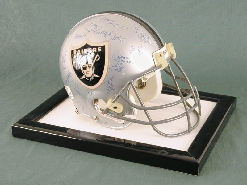 Image 1 for The Los Angeles Raiders - Football Helmet Signed Circa 1991 with co-signers - HFSID 158189