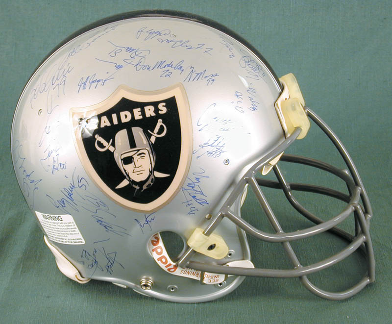 Image 3 for The Los Angeles Raiders - Football Helmet Signed Circa 1991 with co-signers - HFSID 158189
