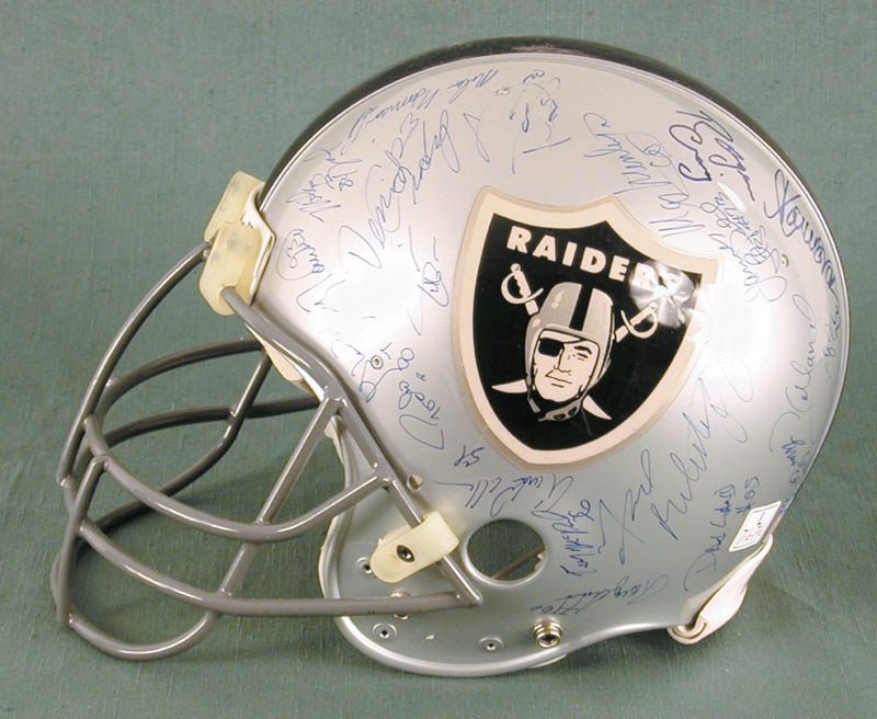 Image 5 for The Los Angeles Raiders - Football Helmet Signed Circa 1991 with co-signers - HFSID 158189
