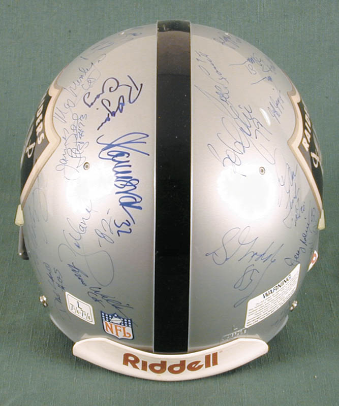 Image 6 for The Los Angeles Raiders - Football Helmet Signed Circa 1991 with co-signers - HFSID 158189