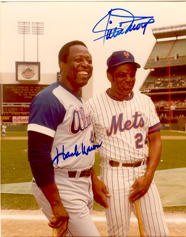 Image 1 for Hank Aaron - Autographed Signed Photograph co-signed by: Willie 'Say Hey Kid' Mays - HFSID 158773