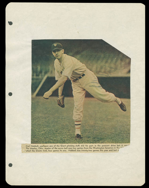 Image 1 for Carl Hubbell - Magazine Photograph Signed - HFSID 158783