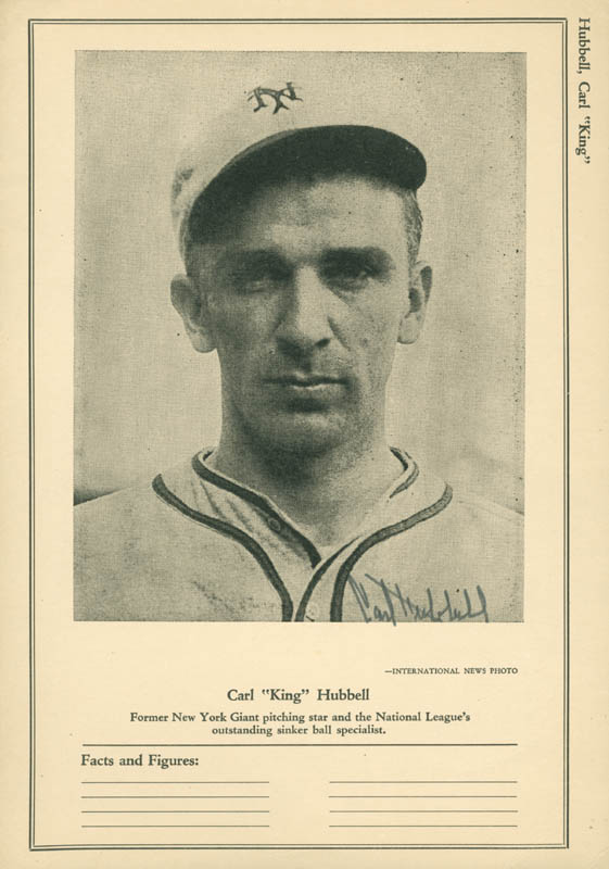 Image 1 for Carl Hubbell - Printed Photograph Signed In Ink - HFSID 158787