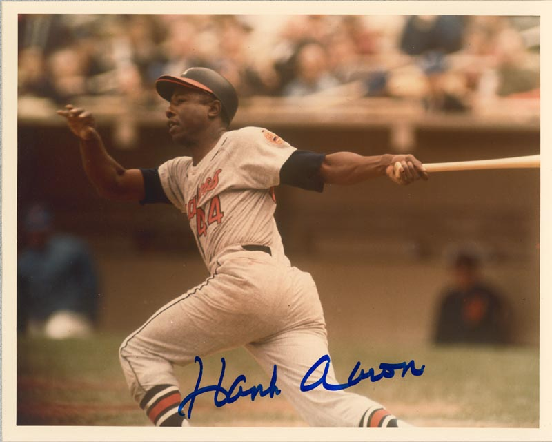 Image 1 for Hank Aaron - Autographed Signed Photograph - HFSID 158916