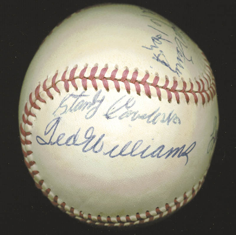 Image 2 for Hall Of Fame Baseball - Autographed Signed Baseball with co-signers - HFSID 158930