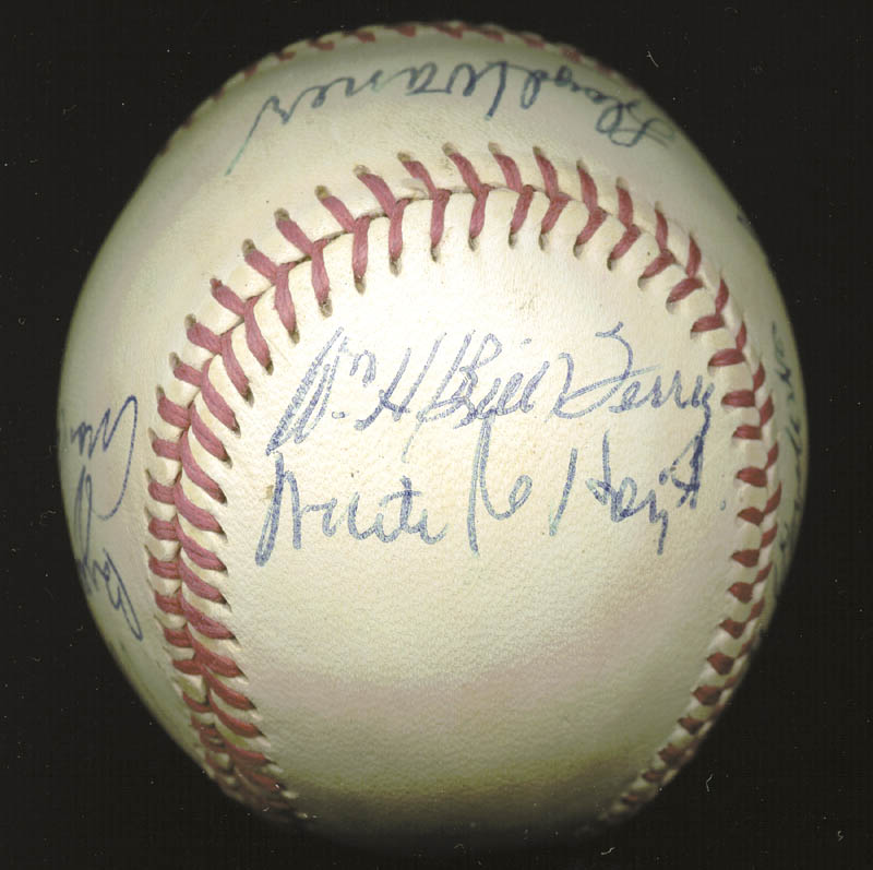 Image 6 for Hall Of Fame Baseball - Autographed Signed Baseball with co-signers - HFSID 158930
