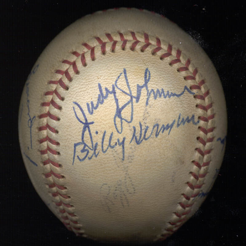 Image 4 for Hall Of Fame Baseball - Autographed Signed Baseball 08/18/1975 with co-signers - HFSID 159057