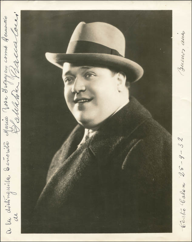 Image 1 for Salvatore Baccaloni - Autographed Signed Photograph 09/25/1932 - HFSID 159213
