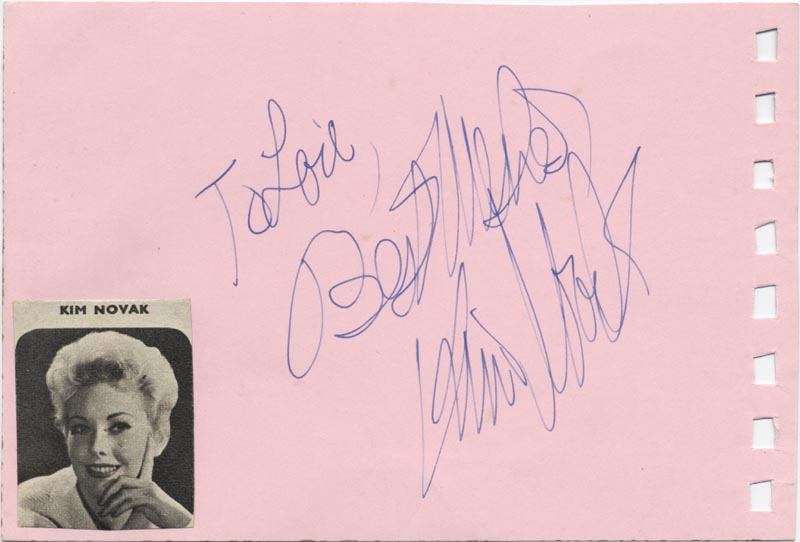 Image 3 for Louis 'Satchmo' Armstrong - Inscribed Signature co-signed by: Kim Novak - HFSID 159279
