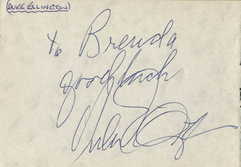 Image 1 for Duke Ellington - Autograph Note Signed co-signed by: Reg Varney - HFSID 159323