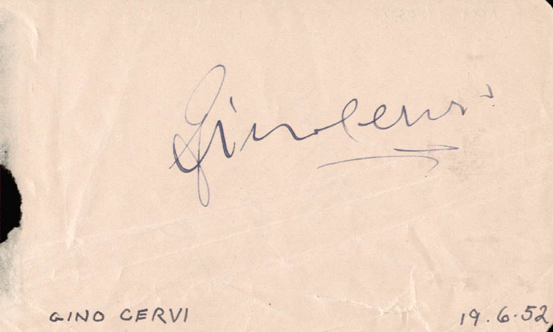 Image 3 for Rock Hudson - Inscribed Signature Circa 1952 co-signed by: Gino Cervi - HFSID 159334