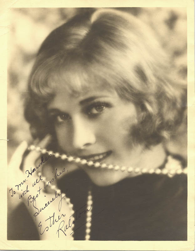 Image 1 for Esther Ralston - Autographed Inscribed Photograph - HFSID 159335
