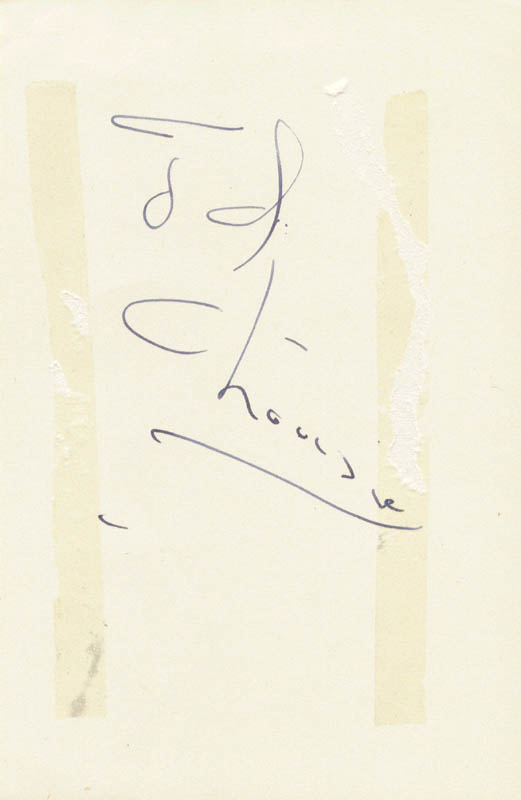 Image 3 for Irving Berlin - Autograph co-signed by: Cyd Charisse - HFSID 159436