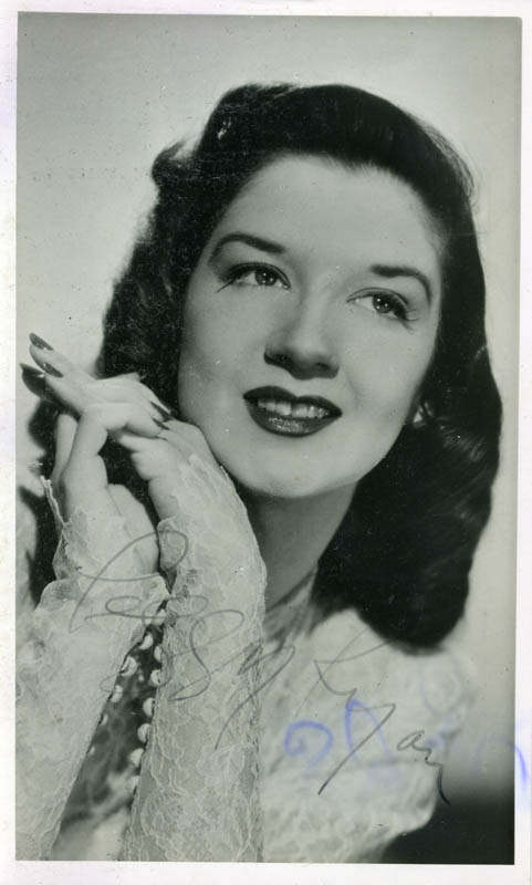 Image 1 for Peggy Ryan - Autographed Signed Photograph - HFSID 159606