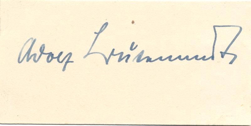 Image 1 for Adolf Friedrich J. Butenandt - Autograph - HFSID 159629