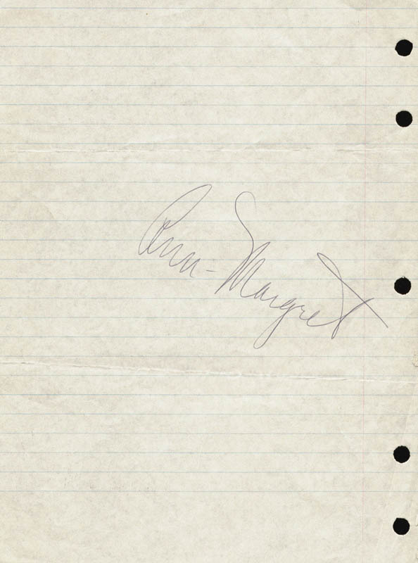 Image 1 for Ann-margret - Autograph - HFSID 159663