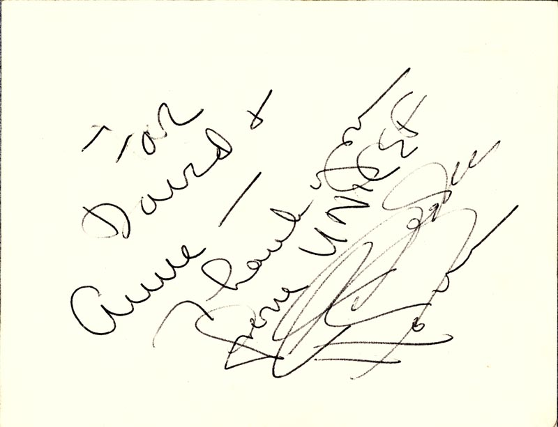 Image 1 for Celeste Holm - Autograph Note Signed Circa 1965 - HFSID 159664
