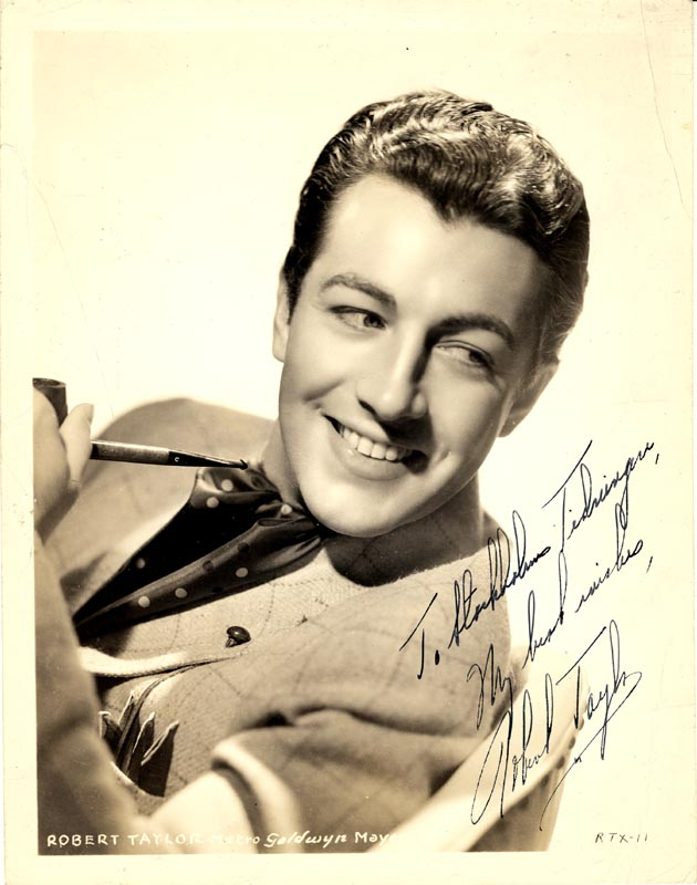 Image 1 for Robert Taylor - Autographed Inscribed Photograph - HFSID 159687