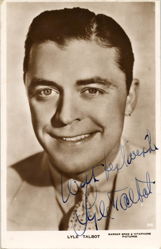 Image 1 for Lyle Talbot - Picture Post Card Signed - HFSID 159755