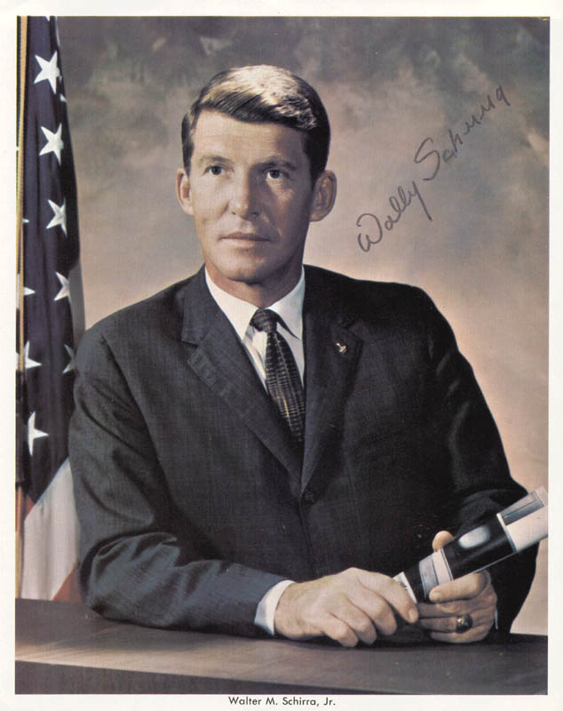 Image 1 for Captain Wally M. Schirra - Autographed Signed Photograph - HFSID 159776
