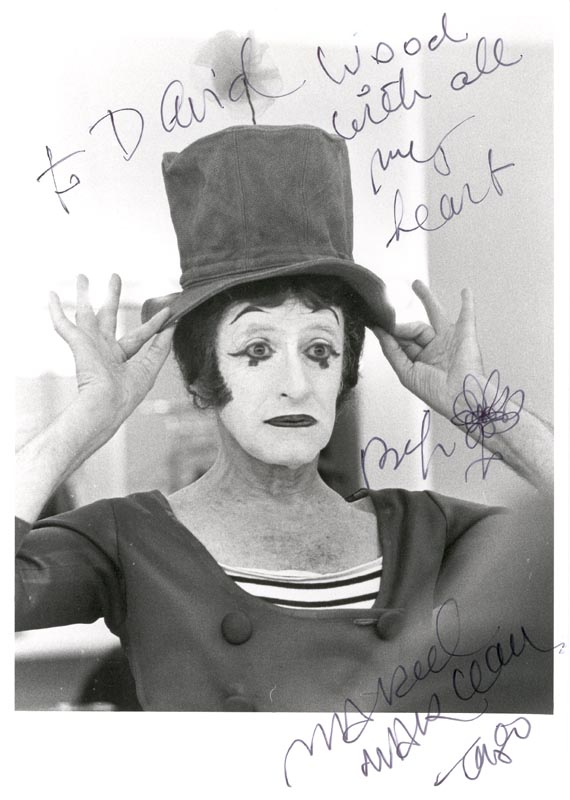Image 1 for Marcel Marceau - Autographed Inscribed Photograph - HFSID 159811