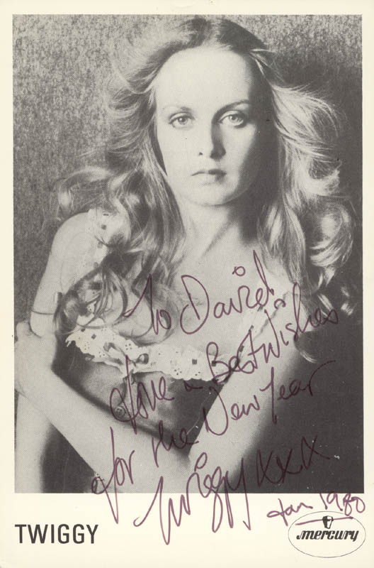 Image 1 for Twiggy - Autographed Inscribed Photograph 01/1980 - HFSID 159843