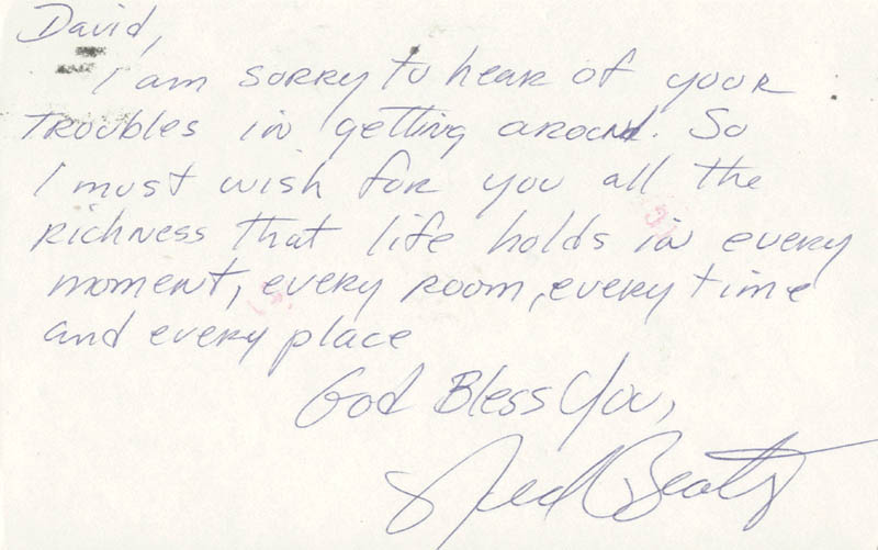 Image 1 for Ned Beatty - Autograph Letter Signed Circa 1981 - HFSID 159860