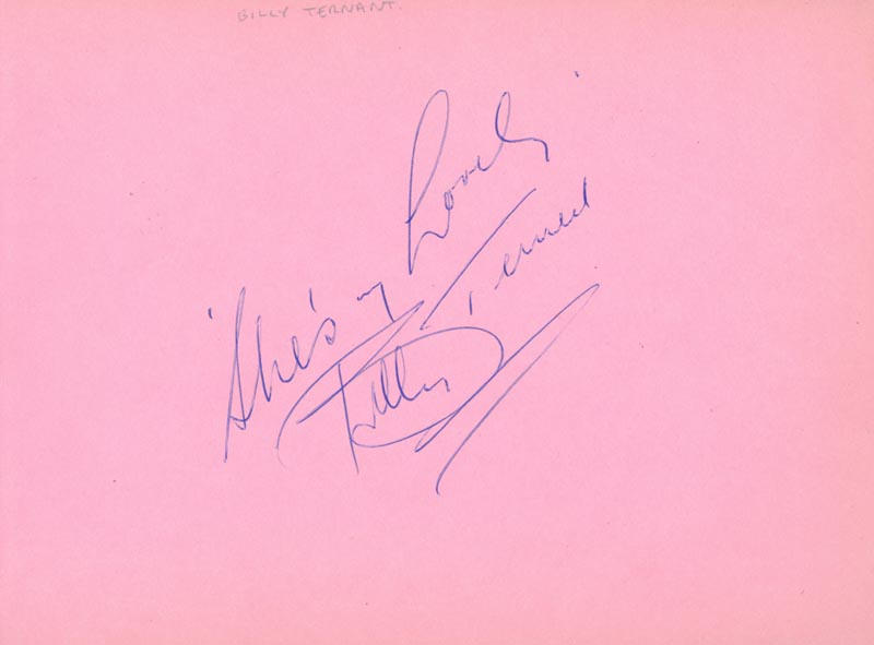 Image 3 for Tommy Fields - Autograph co-signed by: Billy Ternent - HFSID 159932