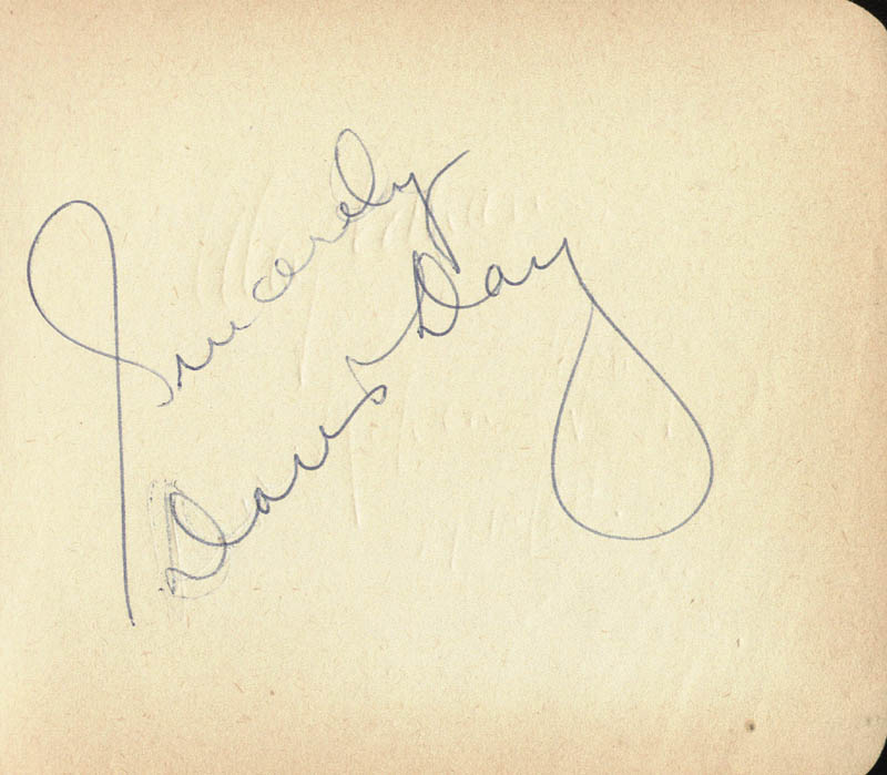 Image 1 for Doris Day - Autograph Sentiment Signed - HFSID 159993