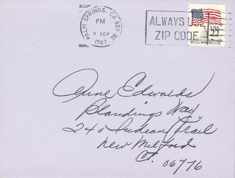 Image 3 for Alice Faye - Autograph Letter Signed 9/1987 - HFSID 160020