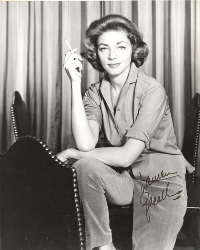 Image 1 for Lauren Bacall - Autographed Signed Photograph - HFSID 160046
