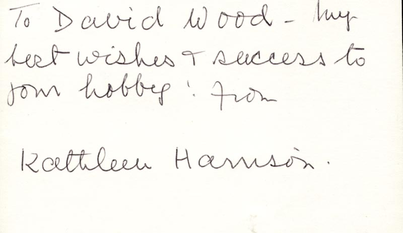 Image 1 for Kathleen Harrison - Autograph Note Signed - HFSID 160144