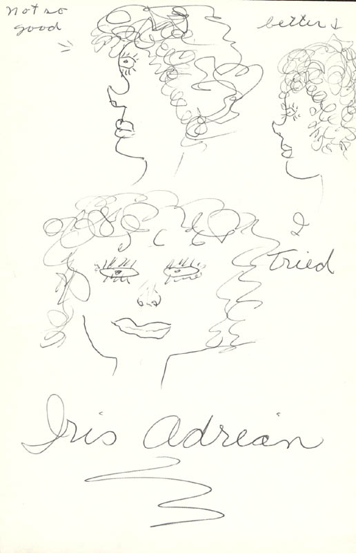 Image 1 for Iris Adrian - Self-caricature Signed - HFSID 16015