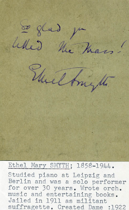 Image 1 for Dame Ethel Mary Smyth - Autographed Signed Poster - HFSID 160241