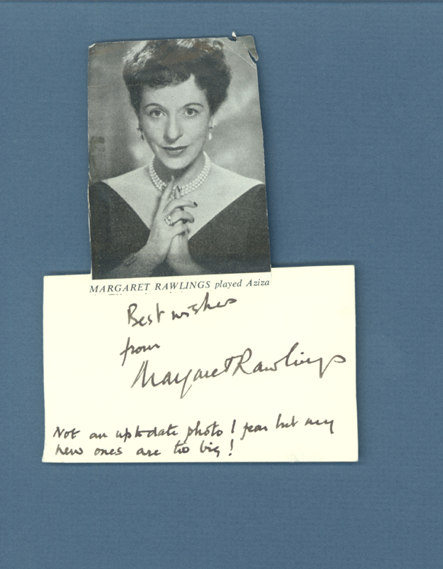 Image 1 for Margaret Rawlings - Autograph Sentiment Signed - HFSID 160338