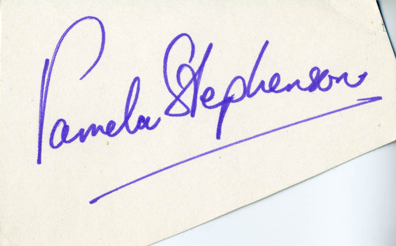 Image 1 for Pamela Stephenson - Clipped Signature - HFSID 160506