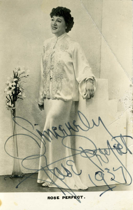 Image 1 for Rose Perfect - Autographed Signed Photograph 1937 - HFSID 160605