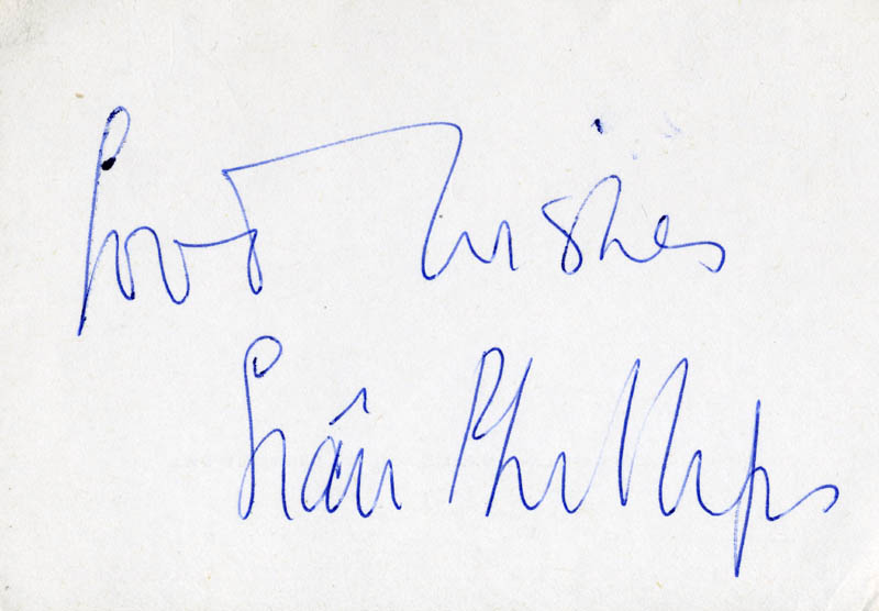 Image 1 for Sian Phillips - Autograph Sentiment Signed - HFSID 160631