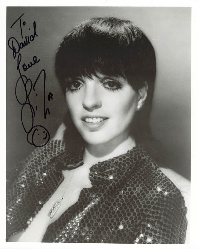 Image 1 for Liza Minnelli - Autographed Inscribed Photograph - HFSID 160679
