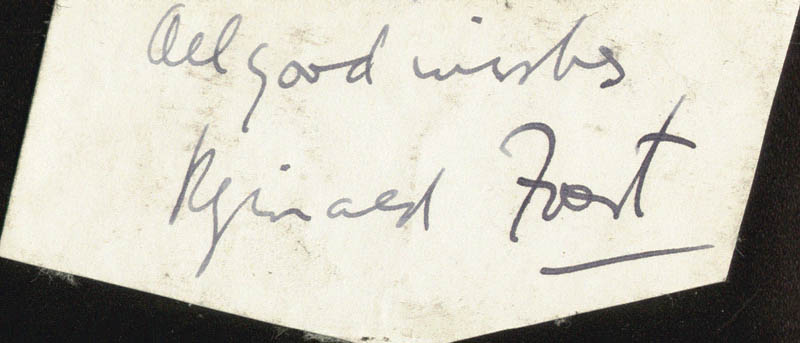 Image 1 for Reginald Foort - Autograph Sentiment Signed - HFSID 160910
