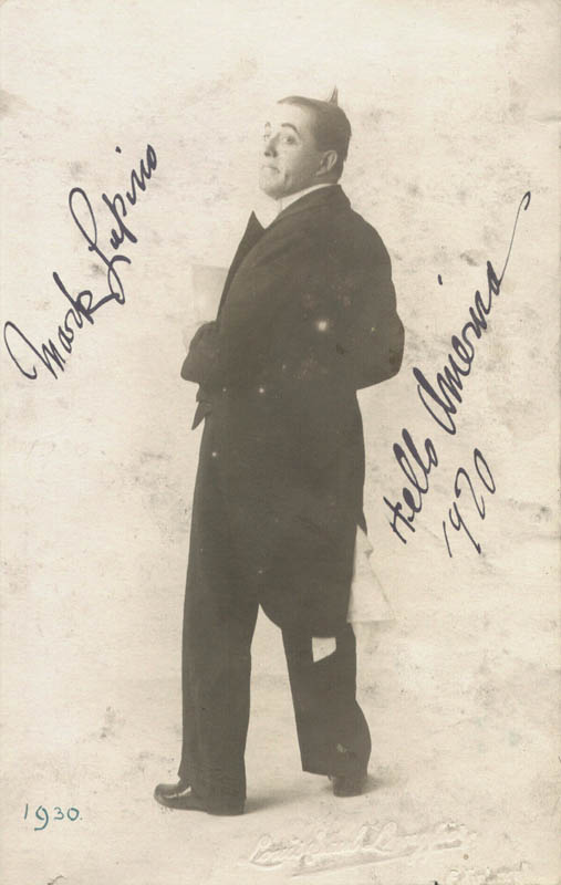 Image 1 for Mark Lupino - Autographed Signed Photograph 1920 - HFSID 160942